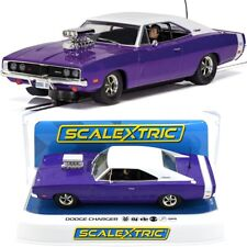 Scalextric C4148 Dodge Charger R/T Purple DRP 1/32 Slot Car Lights