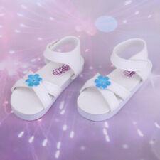 Chaussures en cuir PU blanc fleurs chaussures sandales pour poupées 1/3 bjd