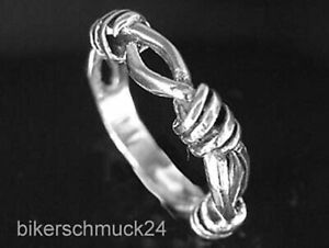 Gothic Ring Stacheldraht Geflecht Barbwire 925 Silber Bandring Biker Geschenk