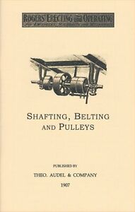 1907 Shafting Belting and Pulleys – Machine Shop - NEW reprint