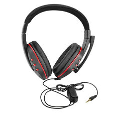 Portable Wired Gaming Headset Headphones w/Microphone for Sony PlayStation PS4