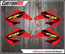 Honda CR125 CR250 2002+ Radiator Panel Decals - OEM Style Graphics/Stickers