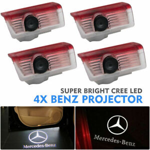 4PCS LED Door Courtesy logo Light Ghost Shadow Laser Projector for Mercedes-Benz