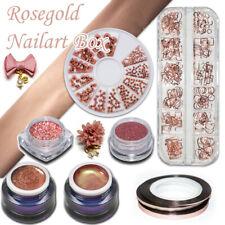 Rosegold Nailart Box Farbgel Glitzer Transferfolie Glitter Rose Gold Rosa