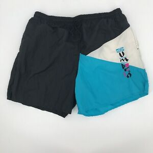 Umbro Sand Soccer Shorts size XL Made in USA vintage color block spell out sewn