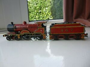 EM Gauge  Hornby MR 4-4-0  Rebuilt Johnson No 467 with Fowler Tender. Used.