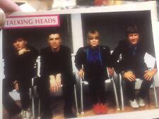 Talking Heads-Very Rare -Unused Postcard-Mint !