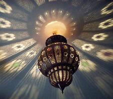 Lustre plafonnier marocain fer forgé lampe applique lanterne oriental 50 cm