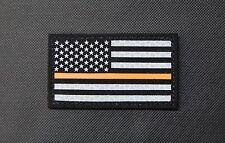 Thin Orange Line US Flag Patch SOLAS Reflective & Black Search & Rescue SAR