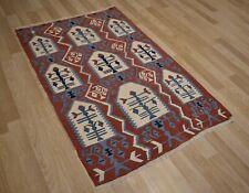 "Very Fine Weave Anatolian Handmade ""Tree of Life"" Kilim 4Ft x 6Ft Free Shipping"
