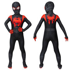 Miles Morales Costume Cosplay Suit Kids Spider-Man: Into the Spider-Verse 3D Ver