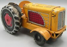 Vintage TN T.N. Tractor Tin Toy Yellow - Made in Japan / No Driver