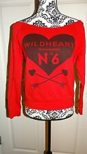 WOMANS LOVE CULTURE RED LONG SLEEVE WILDHEART SWEATER SIZE MEDIUM MADE IN U.S.A.