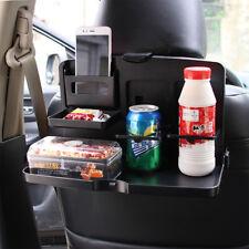 Folding Auto Car Back Seat Table Drink holder Food Tray Holder Stand Desk Black