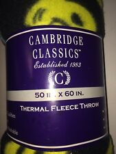 Cambridge Classic Thermal fleece Throw 50in. X 60 In