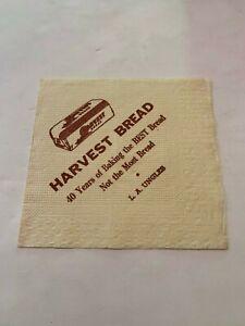 Vintage 1960's Harvest Bread Advertising Paper Napkin