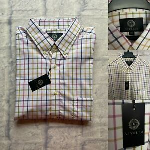 Viyella Long Sleeve Casual Shirt, Size XXL, Cotton, Check BNWT