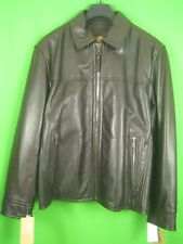 MARC NY by ANDREW MARC Dark Brown Leather NEW Zip Front Classic Jacket M