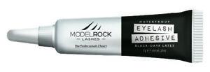 MODELROCK LASHES Lash Adhesive Glue False Eyelashes 7gm Black dark LATEX waterpr