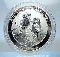 2013 AUSTRALIA Silver 1 Dollar w 2 Kookaburra Birds Australian 1oz Coin i73812
