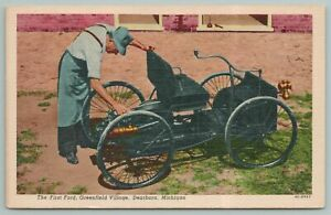 Dearborn Michigan~The First Ford Car~Greenfield Village~Vintage Postcard