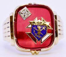 10K Solid Yellow Gold BDA Budlong Docherty Armstrong Knights of Columbus Ring