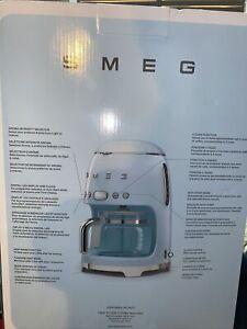 Smeg Retro Style Aesthetic Drip Coffee Machine - Pastel Blue