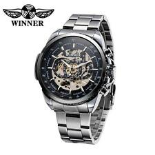 WINNER Hollowed-out Semi Automatic Mechanical Luxury Hand-winding Man watch V1Q4