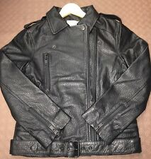 Real Leather Ladies Jacket Asos  Biker Styles Uk Size 4