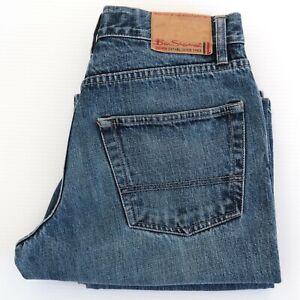 BEN SHERMAN Mens KIT A03 Blue Jeans Size W30 x L33 Mid Rise Bootcut VGC