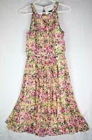 Adrianna Papell Women's Size 6 Floral dress sleeveless halter flowy couture