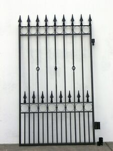 WROUGHT IRON SIDE GATE Black 1815 mm h x 1100 mm w
