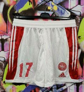 Denmark National Football Team Soccer Training Shorts Adidas 2004 Vintage Mens L