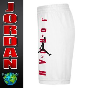 Nike Boy's Size Large Air Jordan Vertical Mesh Basketball Shorts 957176 White