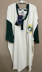 2XL Vintage STYLED Henley NFL Green Bay Packers LONG SLEEVE PRO Line Shirt NWT