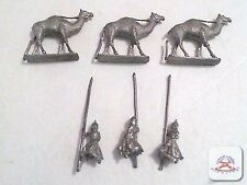 Vintage Lot of Miniatures 3 Camels and 3 riders Rare. (C19B1)