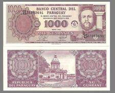 Paraguay P214, 1000 Guarani, Marshal Lopez / National Pantheon of Heros UNC 1998