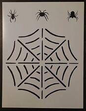 "Spider Web Spiders Spiderweb 8.5"" x 11"" Stencil FAST FREE SHIPPING"