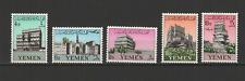YEMEN 5 timbres neufs 1961 Architecture Yéménite  /T3009