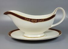 ROYAL DOULTON TENNYSON H5249 GRAVY / SAUCE BOAT AND STAND (PERFECT)