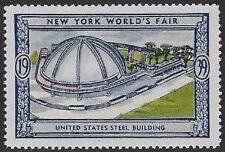 Usa Poster stamp:1939 New York World's Fair: United States Steel Bldg - dw433/6