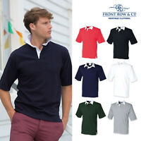 Front Row Short Sleeve Rugby Shirt (FR003) - Traditional Plain Casual Shirt