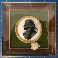 Unbekannter Künstler Hinterglasmalerei Goethe kostbar gerahmt in OVP NOS H9548