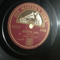 FATS WALLER—VIPERS DRAG / ALLIGATOR CRAWL [78RPM PIANO JAZZ] B8784 HMV (VG)