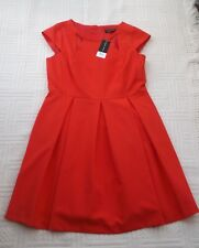 BNWT     Dorothy Perkins       size 14        BRIGHT  ORANGE  FIT & FLARE  DRESS