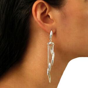 Long Chandelier Drop 925 Sterling Silver Earrings in a Gift Box