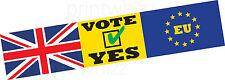 UE votare sì Europa esci brexit Auto Paraurti Adesivo Finestra Porta business van taxi