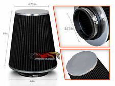 "2.75"" Cold Air Intake High Flow Racing TRUCK FILTER Universal BLACK For Hyundai"