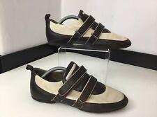 Hugo Boss Señoras Zapatillas, Zapatillas, Reino Unido 4 Eu37, cuero de color beige, marrón, en muy buena condición