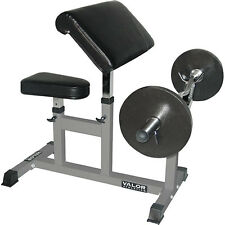 Fitness Bench Curl Preacher Arm Bicep Press Weight Adjustable Workout Valor